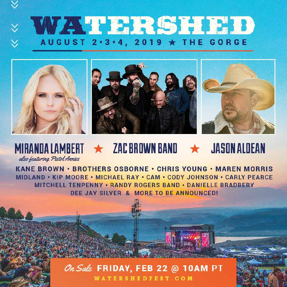 Watershed The Gorge Amphitheater August 2nd 4th 96 9 Kayo