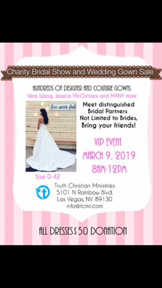 Charity Bridal Show And Wedding Gown Sale Right Song Right Time