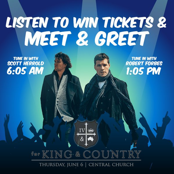 GIVEAWAY: For King & Country Concert - April 2019