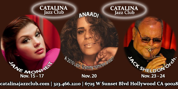 Catalina Jazz Club November 2018
