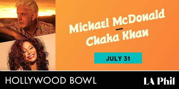 Michael McDonald Chaka Khan at the Bowl