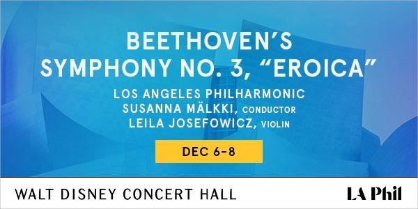 Beethoven's Symphony No 3, Eroica Dec 6-8 2019