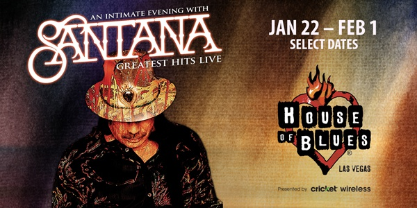 Santana in Vegas Jan- Feb 1 2020