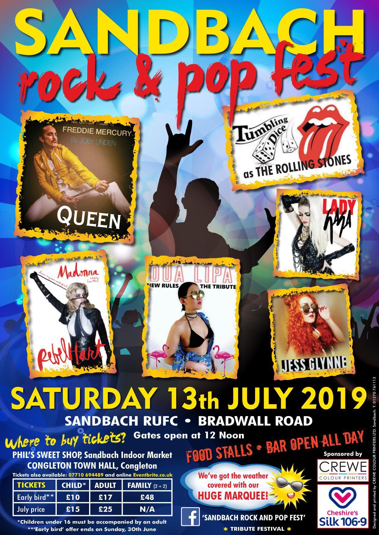 SANDBACH ROCK & POP FESTIVAL