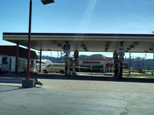 The fuel station on U.S. 50 at Manchester Landing in Aurora may soon be replaced by a truck stop.