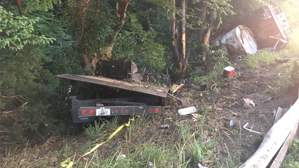 Semi-Driver Airlifted To Hospital After Accident On U S  50 In