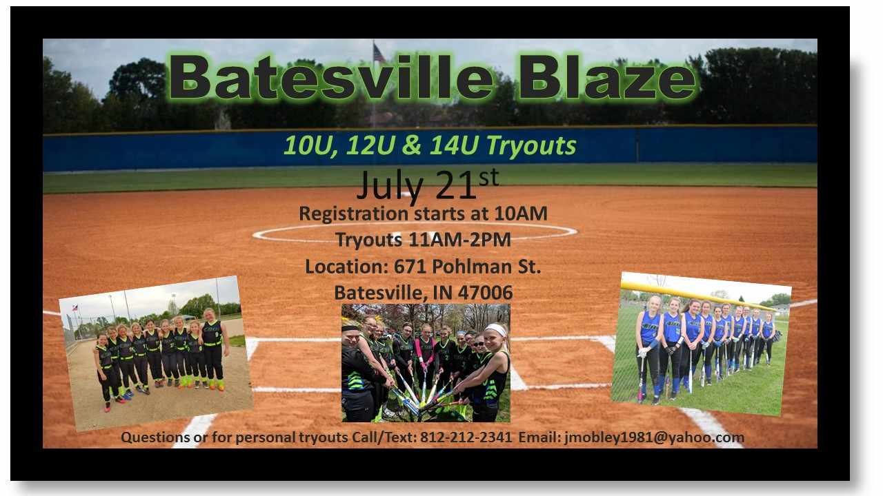 Batesville Blaze Travel Softball Tryouts - Eagle Country 99 3