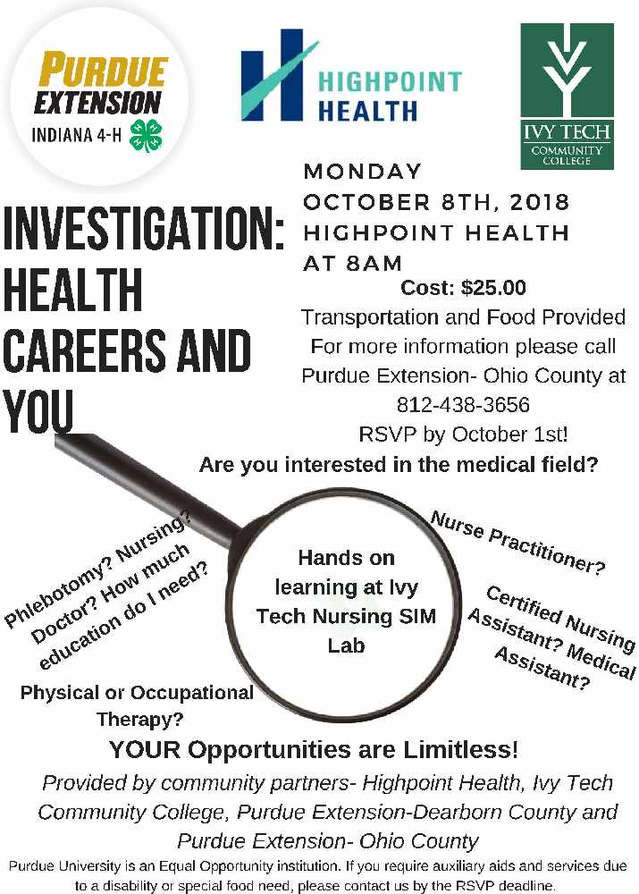 Investigating Health Careers And You Eagle Country 993