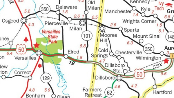 Milan Indiana Map.Lawmaker Says Sr 101 Extension In The Works Eagle Country 99 3