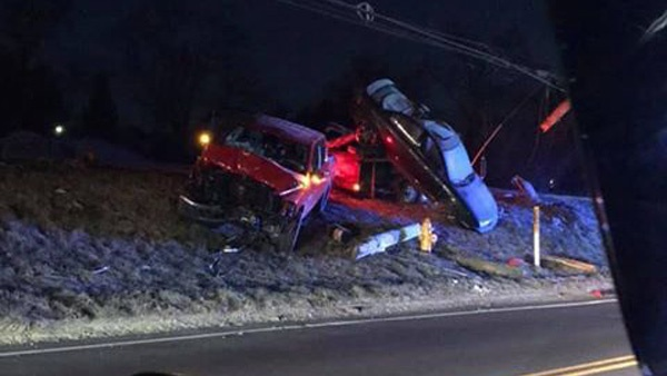 UPDATE: Truck With Car On Trailer Crashes On US 50 In E-Town - Eagle