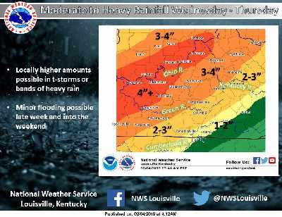 Moderate to Heavy Rain Expected Wednesday through Thursday