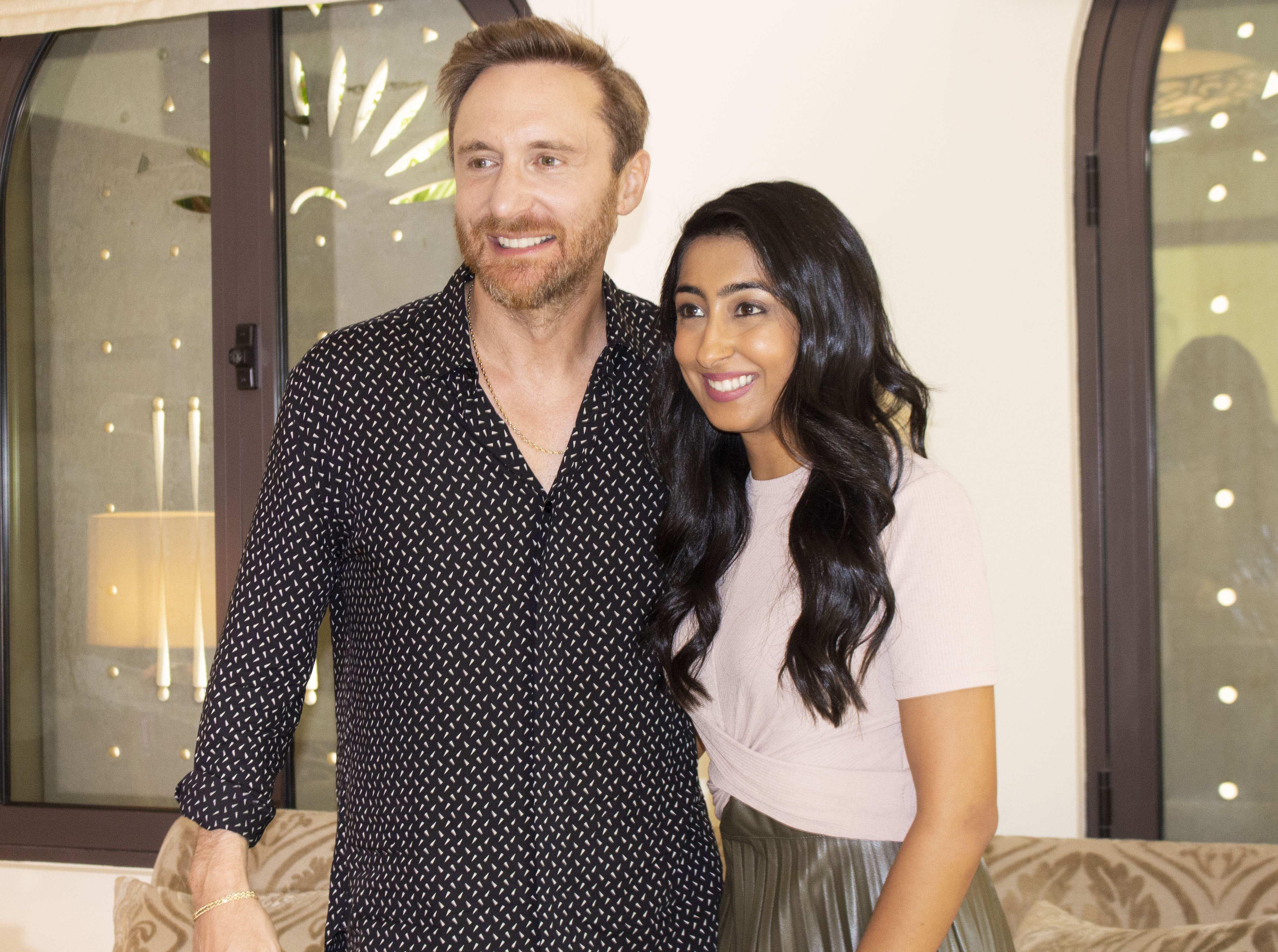 Priti Malik and David Guetta
