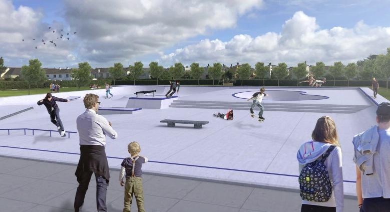 Proposed design for Les Quennevais Sports Centre