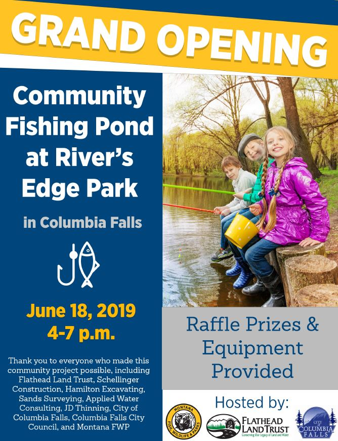 Grand Opening of the Fishing Pond in Columbia Falls - B98 5