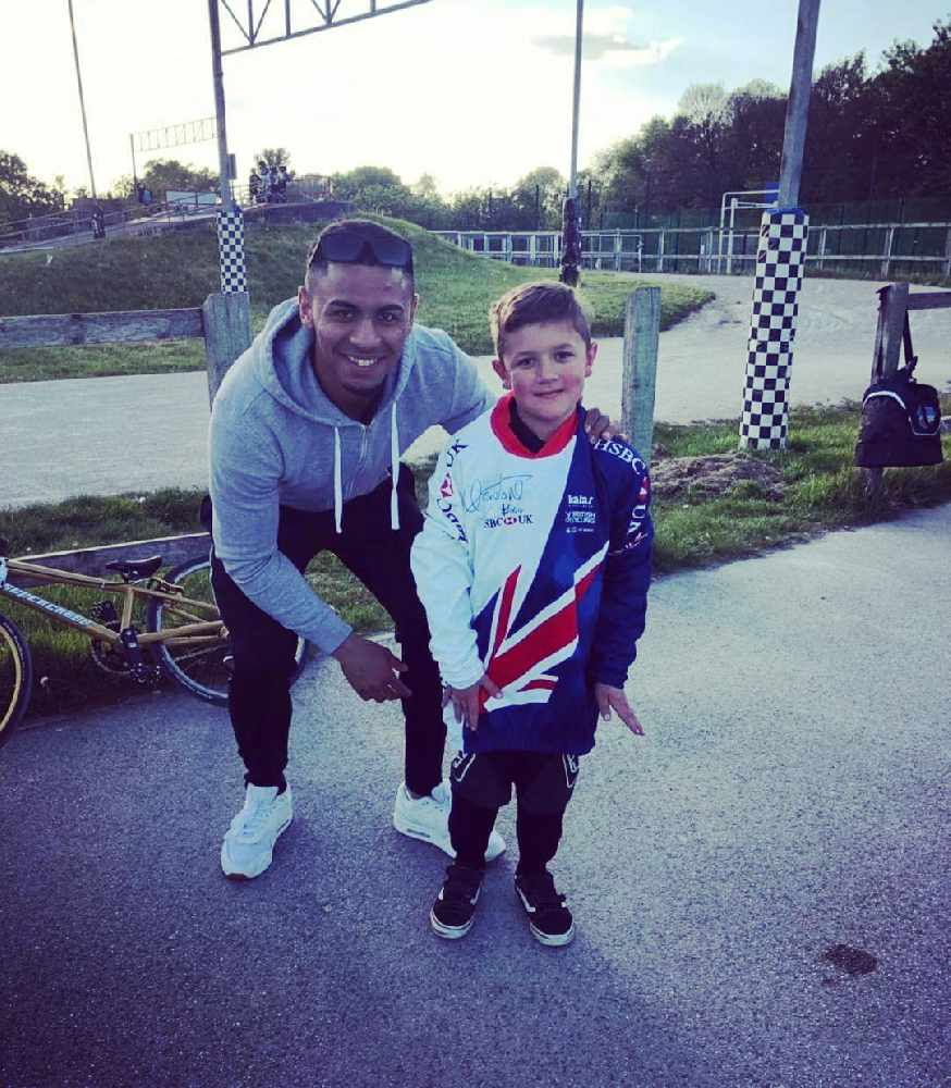 Charlie with GB rider, Quillan Isidore