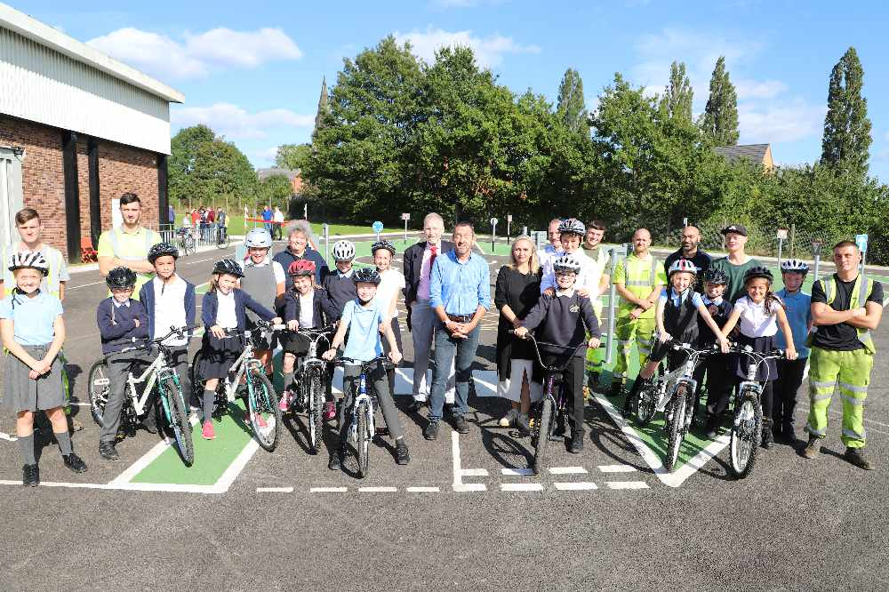 On your bike - Olympian opens new children's cycling facility in Hyde
