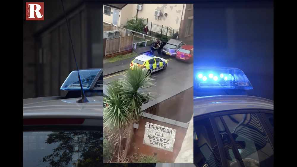 WATCH: Police arrest man after car crash and fight in Ashton
