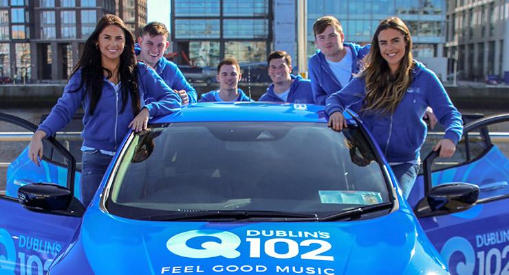 Q102 Nissan Leaf Blue Crew