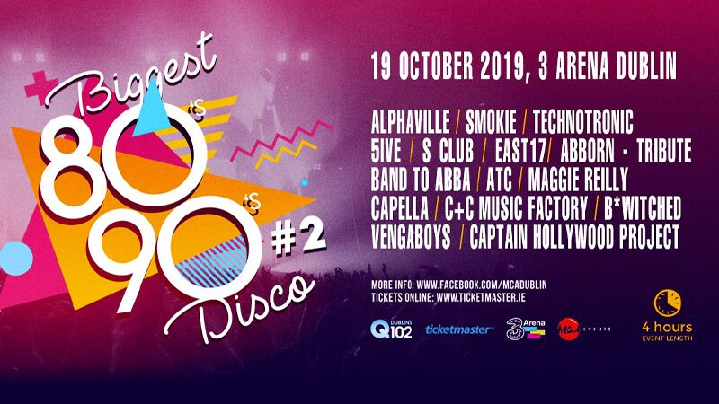 Biggest 80s 90s disco lineup