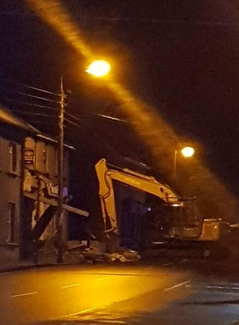 The scene early this morning (Photo: Alan Plunkett Facebook)