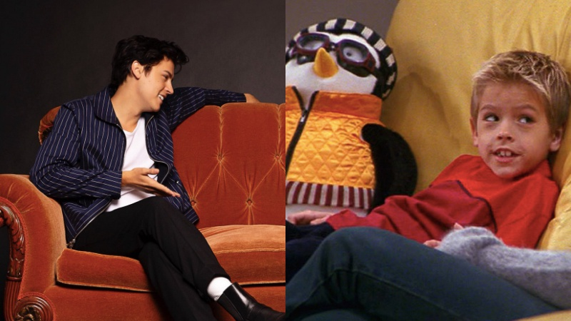 Cole Sprouse celebrates 25 of Friends couch with Hugsy