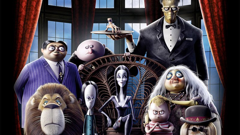 The Addams Family 2019 animated movie poster